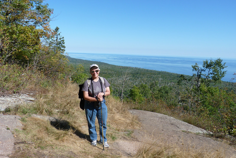 We get expansive views of Lake Superior from the top of Oberg Mountain.