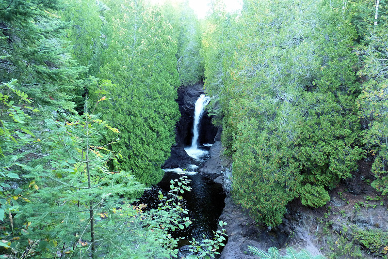 On our way back south toward our Bed & Breakfast, we made another stop at the Cascade River State Park to see another splendid waterfall.