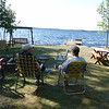 We're spending Labor Day weekend with our friends Sue and Linda, who have a cabin on White Iron Lake in Ely.