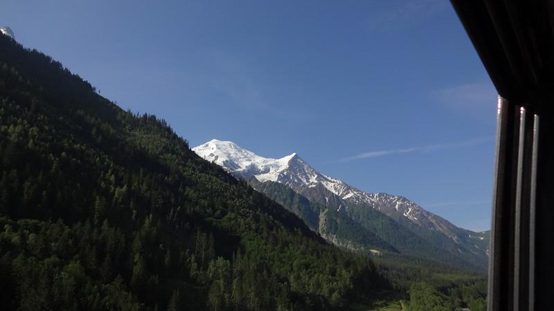 Monsieur Mont Blanc, as Nathalie calls it, peeking out.