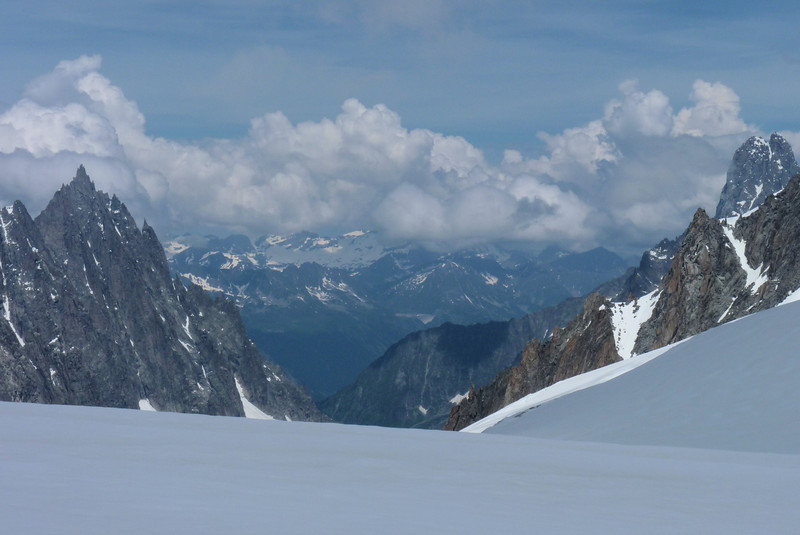 Switzerland lies across the broad valley.  We're standing in France and Italy is behind us.