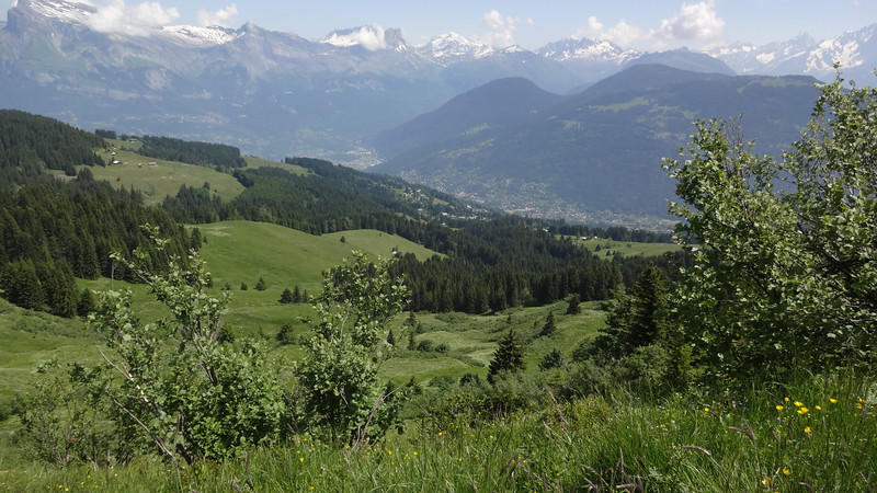 This vista takes in the village of Megeve several thousand feet below