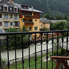 The view from our hotel balcony (the Grand Hotel des Alpes)