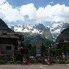 The Courmayeur village square