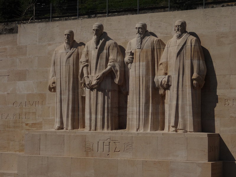Speaking of the Reformation, these are the four horsemen (William Farel, John Calvin, Theodore Beza, and John Knox).