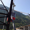 Day 5 - July 9, 2013:  This first cable car will take us partway up the mountain.