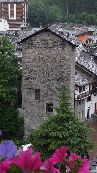 A very old building in Courmayeur