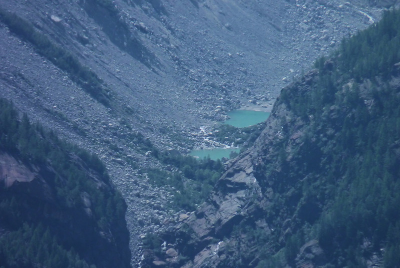 Beautiful glacial lakes across the valley