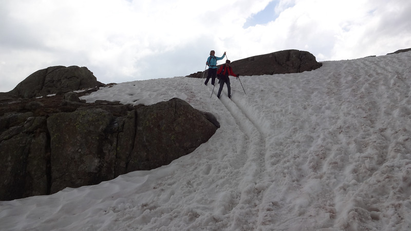 Patti Bell's excellent skiing adventure.  Too bad she doesn't have skis.