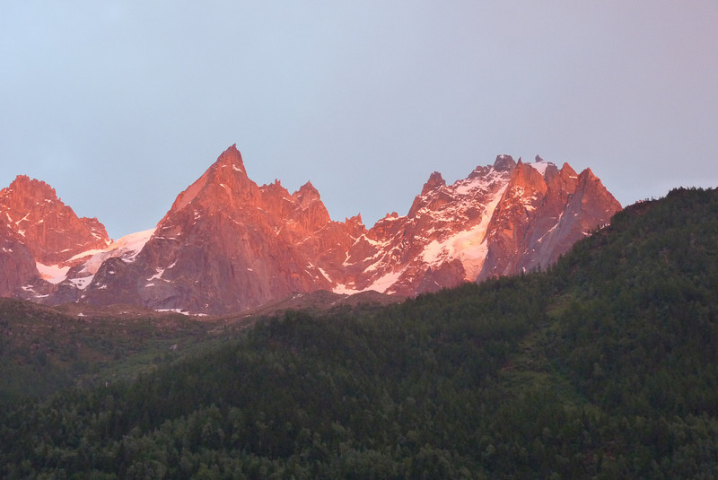 A little Alpenglow from the Alps