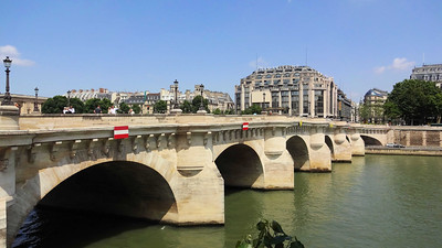 We fight jet-lag by taking a walk, and enjoyed looking at the gorgoyles decorating the Seine.