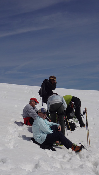 Some of us are still puttig on our crampons.