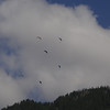 Day 4 - July 8, 2013:  The next morning we see paragliders on our way.