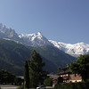 Mont Blanc guards the town