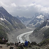 Our lunch spot, overlooking the Mer de Glace (sea of ice).