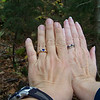October 8th...we begin the difficult hike up one of Vermont's mountains:  Camel's Hump, but we're distracted, once again, by our new wedding rings!