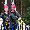 Patti found the sky bridges scarier than the ziplines, but she conquered her fear of heights.