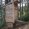 Latrine at Bretton Woods ski resort in the White Mountains of New Hampshire.  We were there in the fall for a Zipline tour, but this latrine is clearly built for winter!  October 6, 2010
