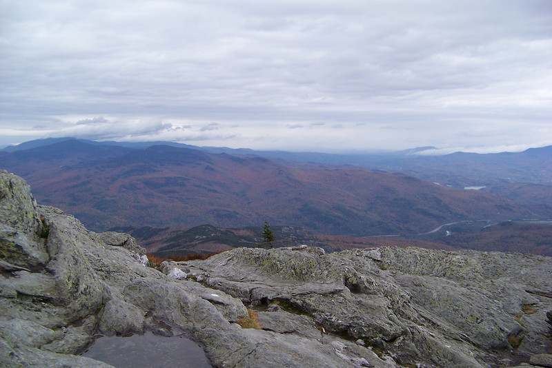 The view from the summit of Camel's Hump, Vermont