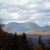 A rainbow appeared at one lovely overlook.  Kancamangus Highway, New Hampshire
