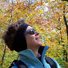 Patti enjoys the bronzes and yellows on the lower section of our hike.