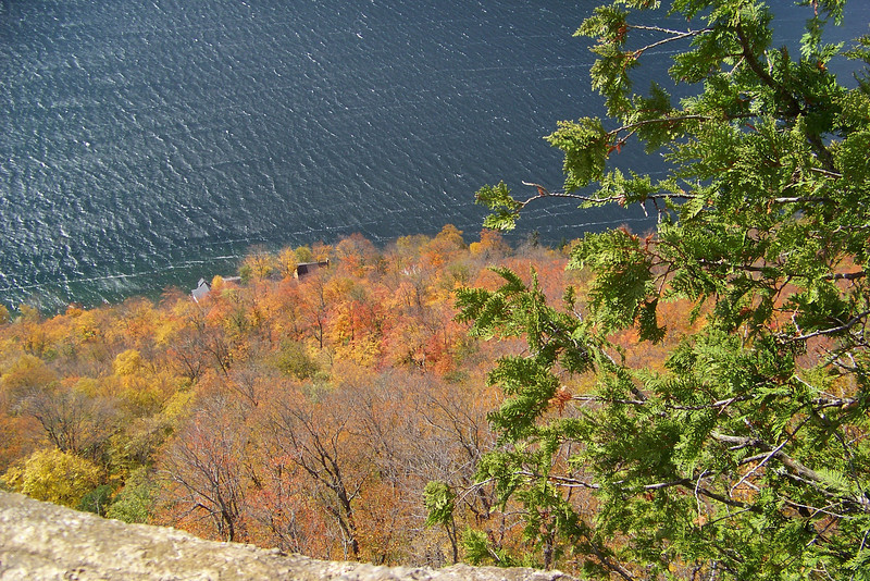 Lake Willoughby and some lovely fall colors from Pulpit Rock on the Mt. Pisgah trail in Vermont