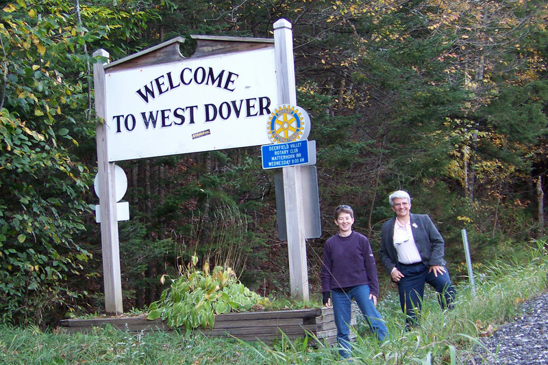 Yay!  Almost to our Bed & Breakfast in West Dover!