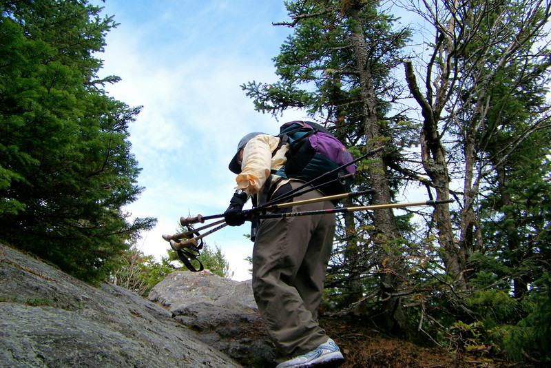 In typical New England fashion, the trail is short, but steep, and involves a final push over granite.