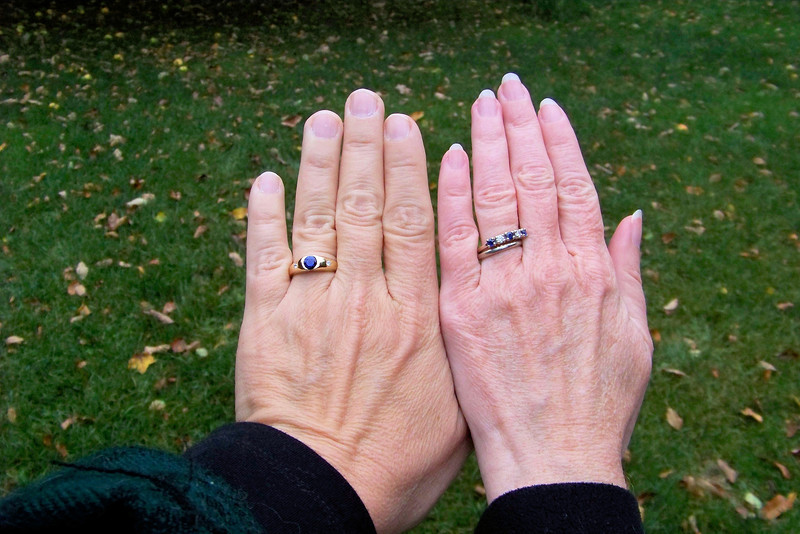 The new rings on not-so-new hands.