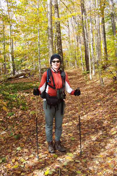 Fall is pretty far along in northern Vermont, but Patti is enjoying the yellow/bronze color of the fallen, or almost-fallen leaves.