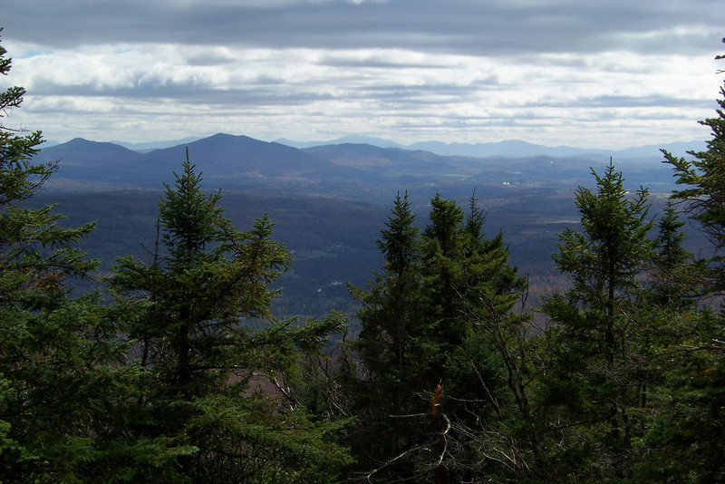 The view from the summit of Mt. Pisgah