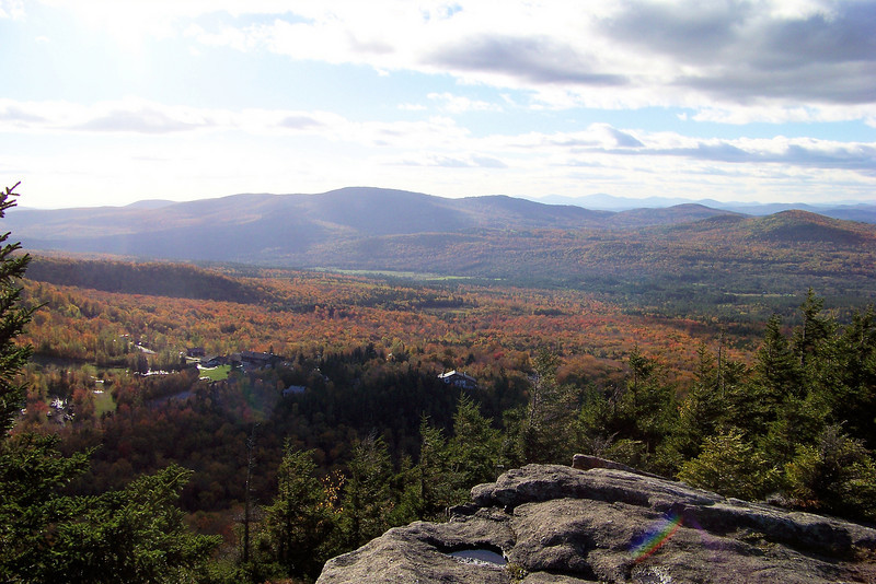 The view from Bald Mountain -- the Cannon Mountain ski area is across the road from us.