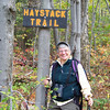 Our trail is very nearby, so we don't have a long drive today...we'lll hike the Haystack Trail to a summit overlooking Haystack Pond.