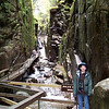 This is the Flume Gorge section of the trail.