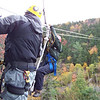 Patti flies in on one of the super-long ziplines.