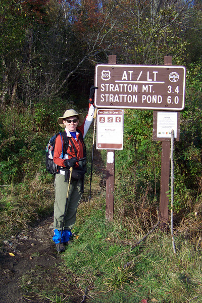 October 3rd, 2010 -- we drive to our trailhead, where we'll hike a section of the Appalachian Trail contiguous with Vermont's Long Trail.  Our destination is the Stratton Mountain fire tower, about 1900 vertical feet up from our trailhead.