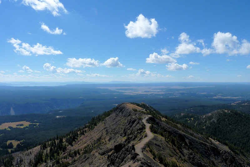 The view toward Grand Canyon of the Yellowstone and Yellowstone Lake