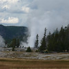 We witness Grand Geyser from a distance, but can't get there quickly from where we are.