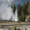 There is quite a crowd gathered in front of the Grand Geyser, which really is quite grand.