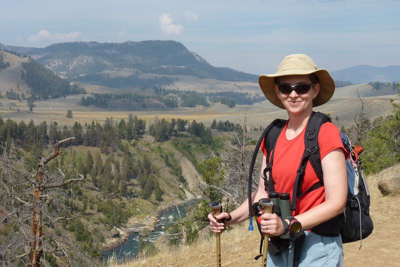 The Yellowstone River far below Patti