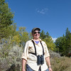 Jeane, in the sagebrush above Willow Flats.