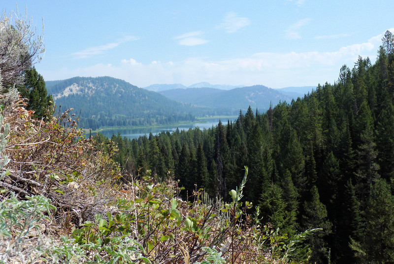 The view from our lunch spot.  We scrambled up a very steep hill to get this great view of the lake.