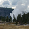 We arrive at the Upper Geyser Basin to discover that our timing is abysmal -- we've just missed the eruption of Old Faithful, and the eruption of the Grand Geyser is well underway.
