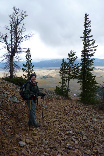 We can't stand the cold on Bunsen Peak for long, so we begin our descent down the mountain.