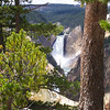 The Lower Falls of the Yellowstone River at Artist Point.