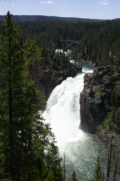 The Upper Falls of the Yellowstone River