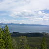 Yellowstone Lake from the Elephant Back viewpoint.  The Absaroka Mountain Range is visible beyond the lake.