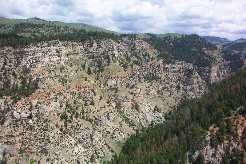 We hike up to a beautiful overlook called Dedication Point.  The point overlooks Billy Creek Canyon on one side, Canyon Creek Canyon on another side, and the Bighorn basin in yet another direction.