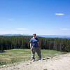 We catch our first glimpse of Yellowstone Lake, where we'll be spending the night.
