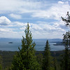 Yellowstone Lake from the Elephant Back viewpoint.